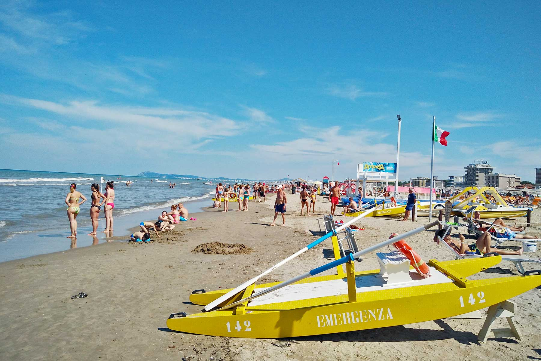 La spiaggia dei Bagni Ricci